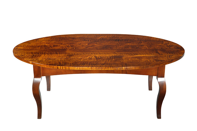 Oval Tiger Maple Table Canadian Wood Design