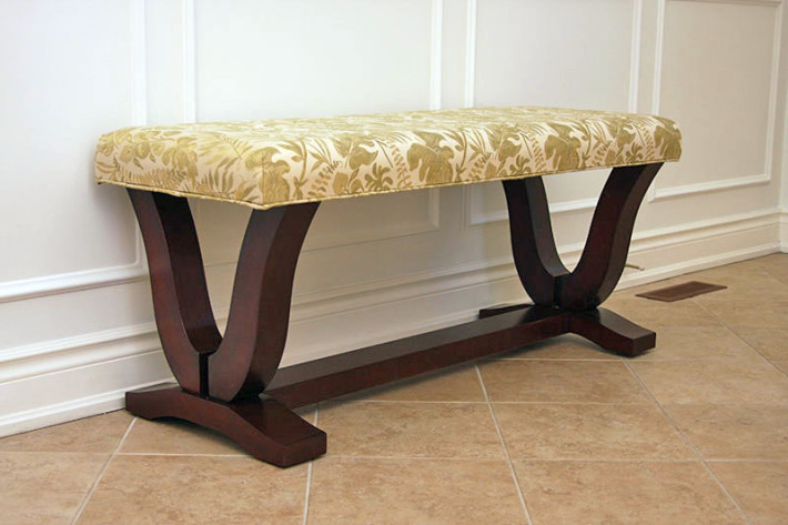 Upholstered Hallway Bench - Canadian Wood Design