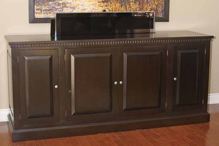 tv lift buffet canadian wood design. Black Bedroom Furniture Sets. Home Design Ideas