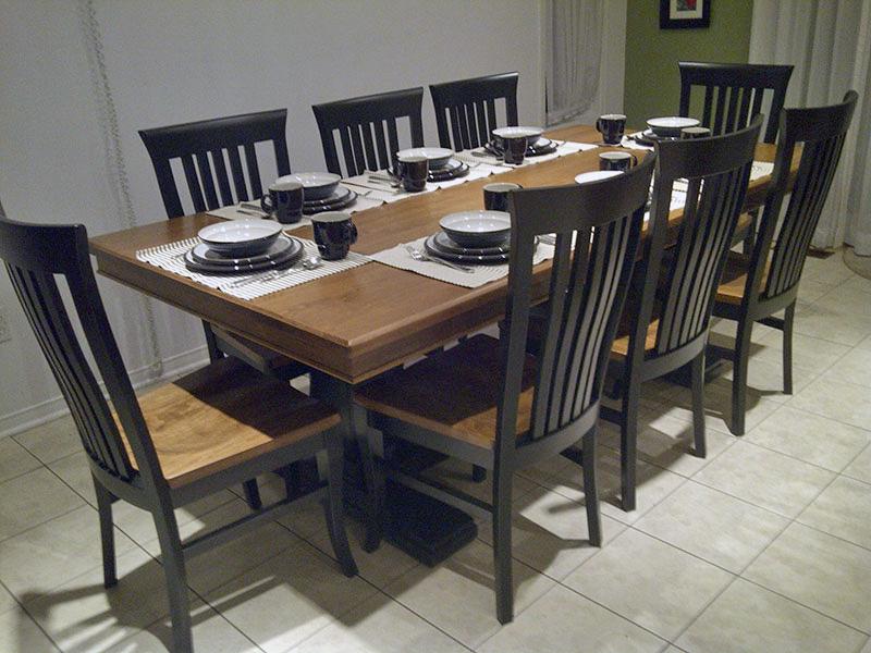 Double Pedestal Maple Dining Set
